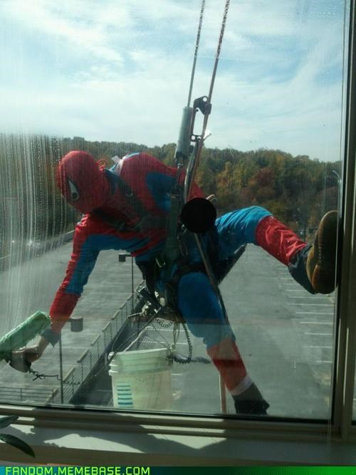 cosplay,costume,Spider-Man,window washer