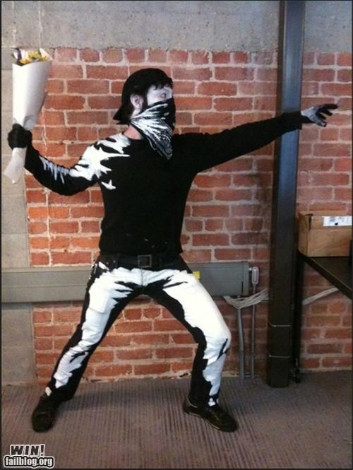 banksy,costume,graffiti street art,hacked irl,halloween
