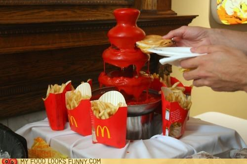 burger fancy fountain fries ketchup McDonald's