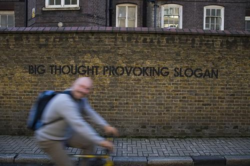 Mobstr Street Art Thought Provoking Slogan - 5379647744