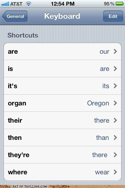 auto correct,keyboard,shortcut