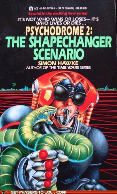 books cover art mad psychodrome 2 science fiction shape shifter snake wtf - 5379882240