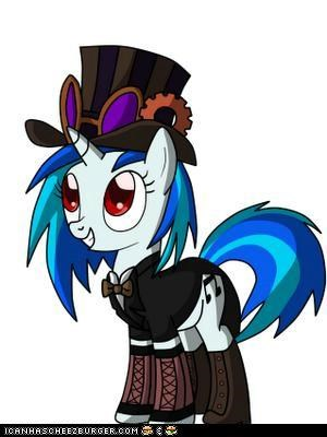 vinyl scratch's costume:steampunk