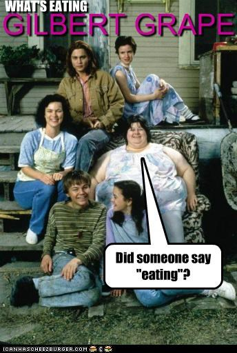 eating fat food Gilbert Grape Johnny Depp leonardo dicaprio whats-eating-gilbert-grape