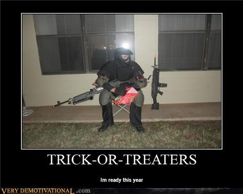armor guns hilarious read trick or treak
