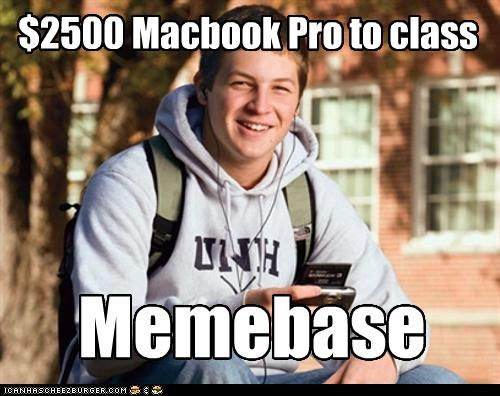 $2500 Macbook Pro to class Memebase