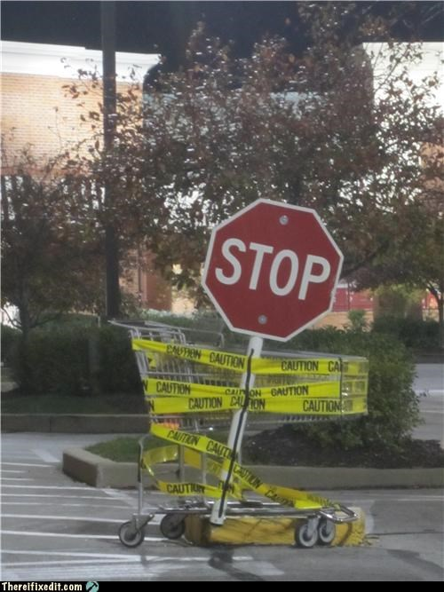 dual use Professional At Work signs stop signs