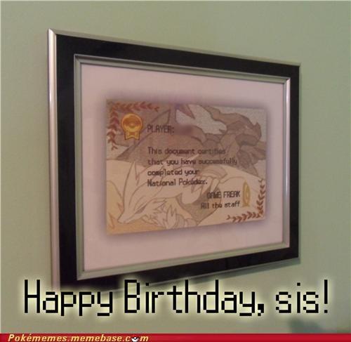diploma Game Freak happy birthday IRL pokedex - 5380728320