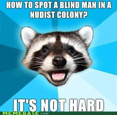 blind colony erect hard Lame Pun Coon no clothes - 5381030144