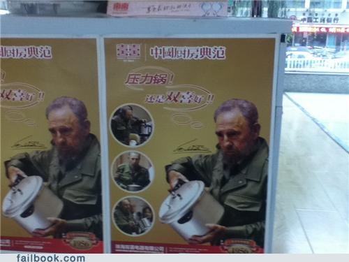 ad fail communists cookware dictators Fidel Castro Hall of Fame