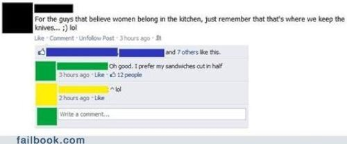knives,men,sanwich,sexism is tastey,stab stab stab,women