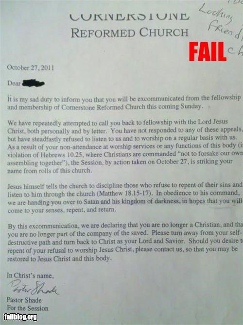 failboat g rated Hall of Fame letter religion tldr - 5381430272