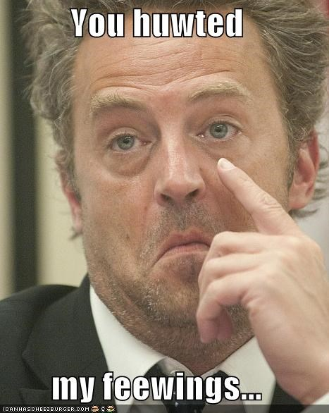 crying,depressed,dont-cry,emotions,feelings,matthew perry,roflrazzi,safd,what are feeling,you hurt my feelings