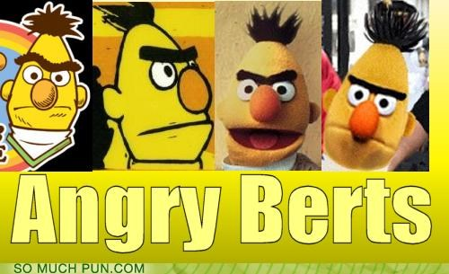 angry birds,bert,literalism,multiple,Sesame Street,similar sounding