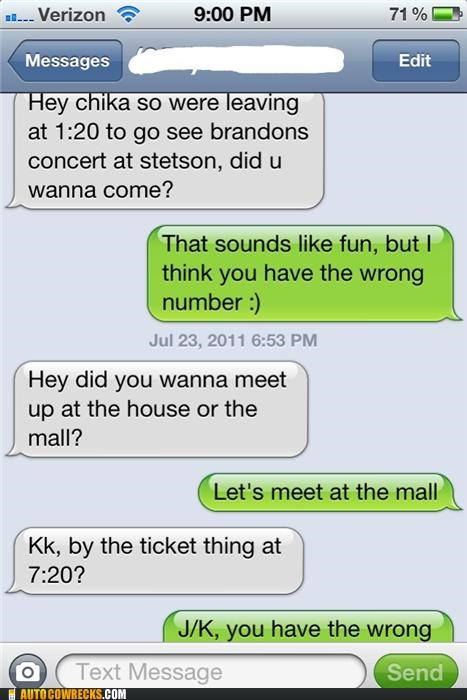 carousel not getting it repeat offender slow wrong number Wrong Numbers From Dumb/Creepy Strangers