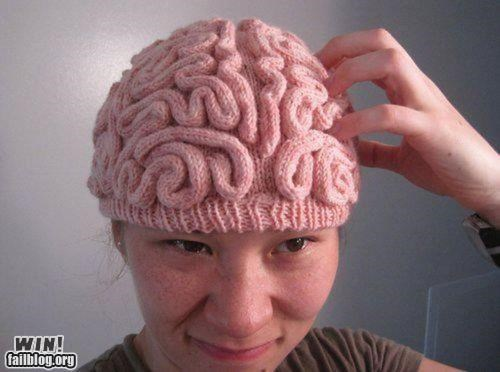 beanie brain cap creepy knitting
