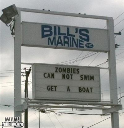 boat business sign zombie zombie apocalypse