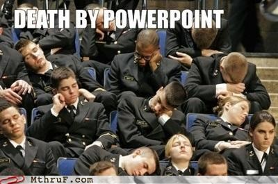 assembly bored powerpoint presentation sleeping