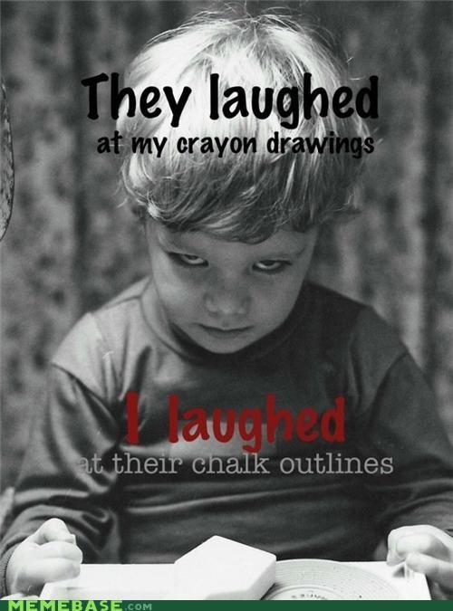 chalk crayon Death kids laughter murder outlines PTSD Clarinet Kid - 5382322944