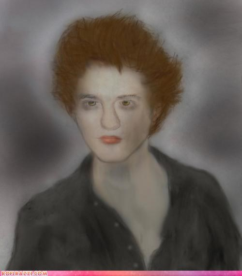 art edward cullen FAIL funny robert pattinson twilight - 5382335232