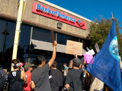 bank of america Debit Usage Fee Occupy Wall Street The 99 Percent