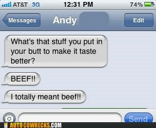 autocorrect Beef butt food - 5382453504