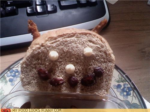 bread,cranberries,devil,face,shrimp,white chocolate