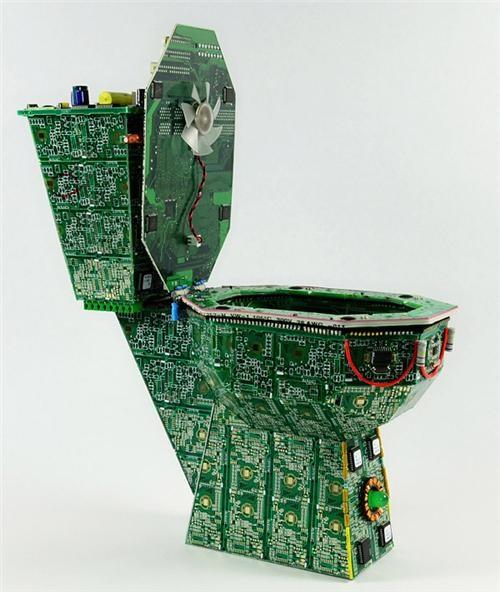 art circuit board toilet data throne pcb creations Tech - 5382555648