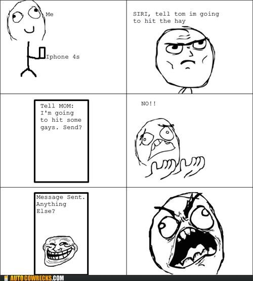 comic,hit the hay,homophobe,rage comic,siri