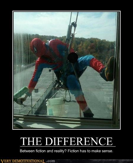 fiction hilarious reality Spider-Man washer window