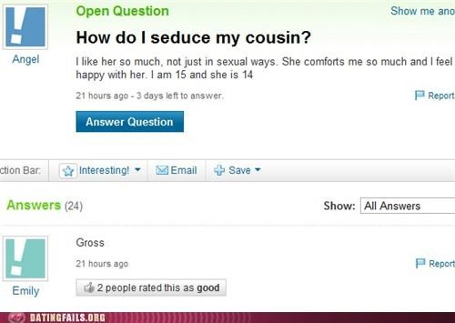 cousins,incest,seduction,We Are Dating,yahoo answers