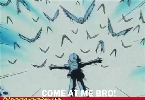 anime,ash,come at me bro,episode 1,pikachu,spearows,tv-movies