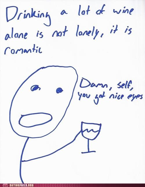 forever alone Hall of Fame lonely romantic wine - 5383040000