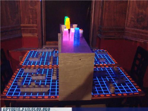 awesome,battle shots,battleship,black light,colors,drinking,glow,shots,tron,win