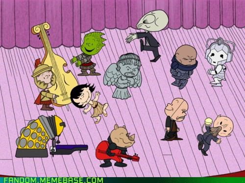 best of week charlie brown cybermen dalek doctor who Fan Art ood peanuts the silence Whovian