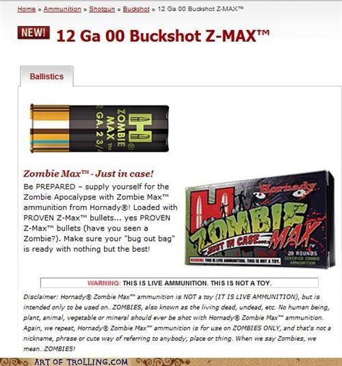 ammunition best of week buckshot shoppers beware zombie - 5383436544