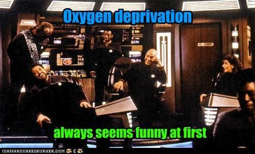Captain Picard funny Jonathan Frakes oxygen patrick stewart Riker Star Trek TNG - 5383658496