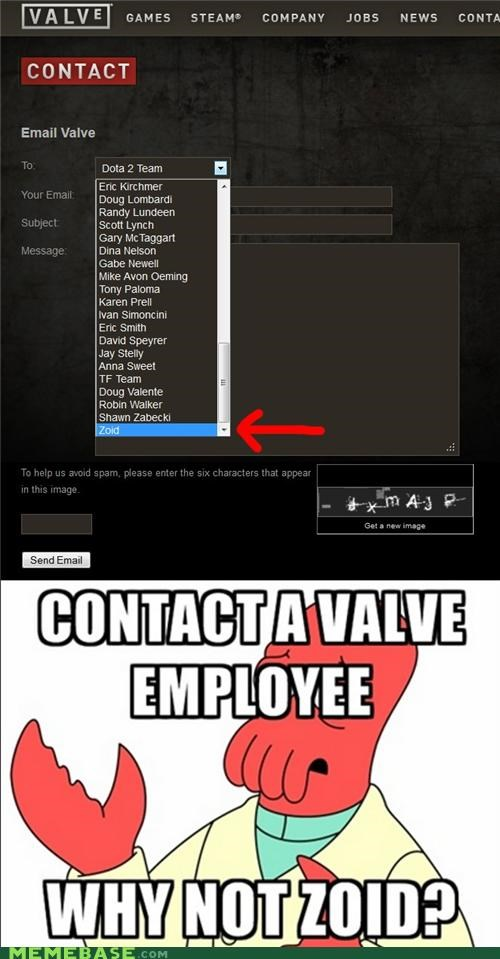 email,employee,form,valve,Zoidberg