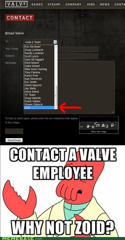 email employee form valve Zoidberg - 5383685632