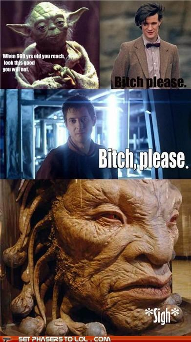 arthur darvill doctor who Matt Smith the doctor the face of boe yoda - 5383977728