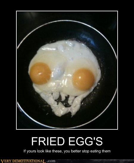 eyes,fried eggs,hilarious,skull,Terrifying