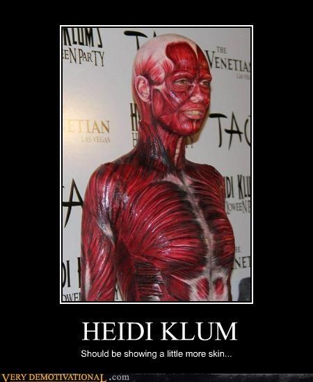 costume,heidi klum,skin,Terrifying