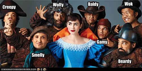 dwarfs,Lily Collins,snow white