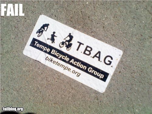 acronym bike failboat innuendo sticker tempe