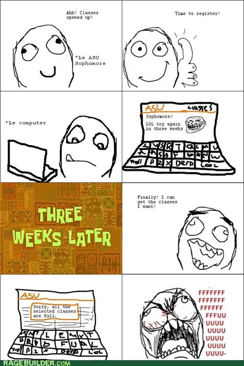 classes,college,Rage Comics,registration