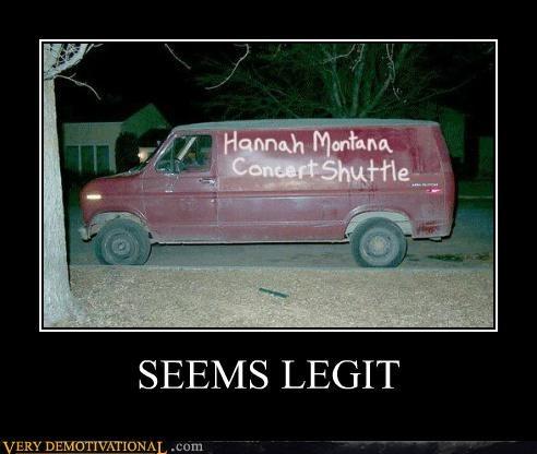 concert hannah montana hilarious seems legit shuttle van - 5385144576