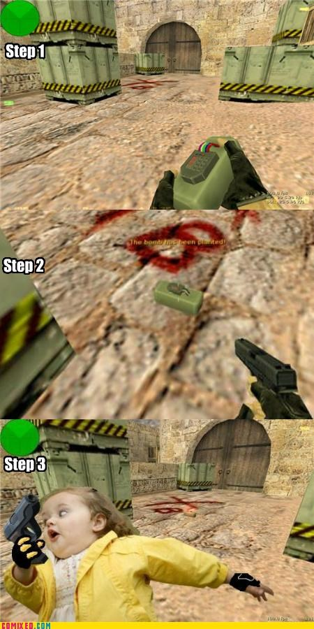 counter strike,de_dust,plant the bomb,run like hell,video games