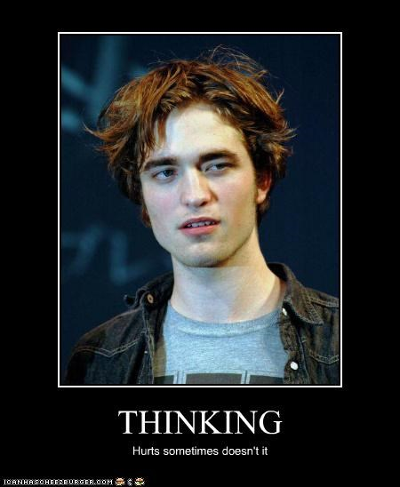 confused dumb idiots robert pattinson thinking - 5385445376