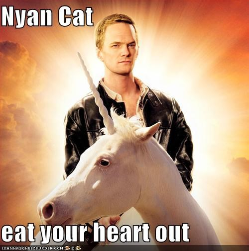 eat your heart out epic Memes Neil Patrick Harris Nyan Cat unicorns - 5385657088