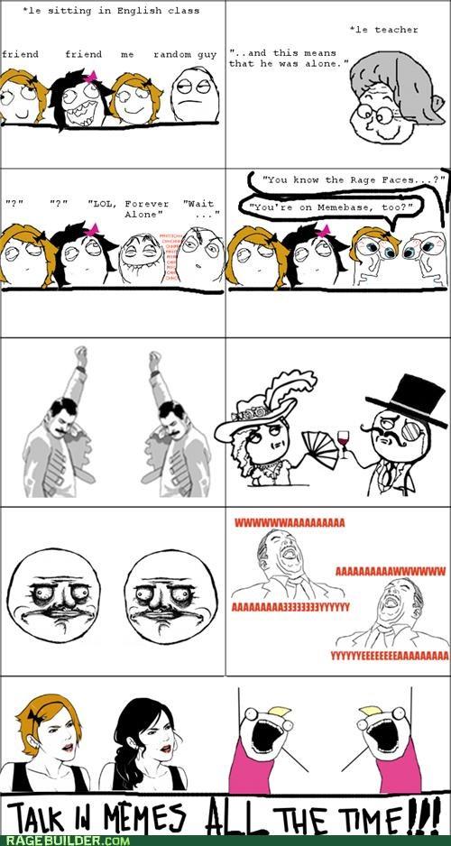 forever alone friends Memes Rage Comics - 5385806336